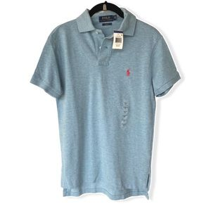 NWT Men's Polo Ralph Lauren Court Blue Polo Shirt